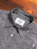 Slub Button-Up Shirt in Grey
