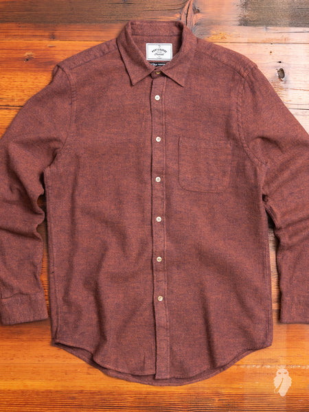 Teca Button-Up Shirt in Brick