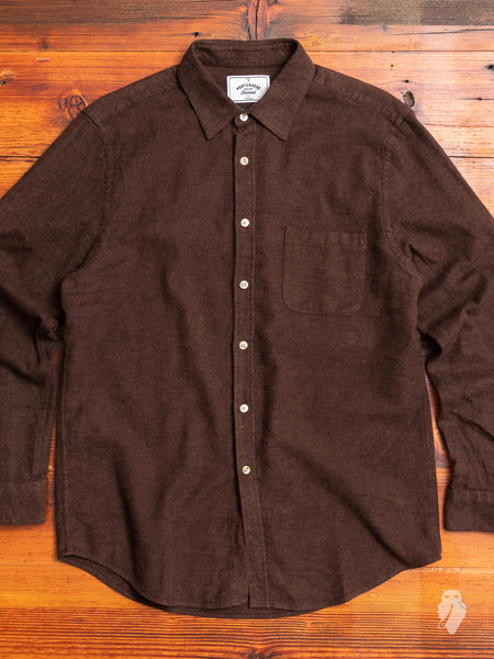 Teca Button-Up Shirt in Brown