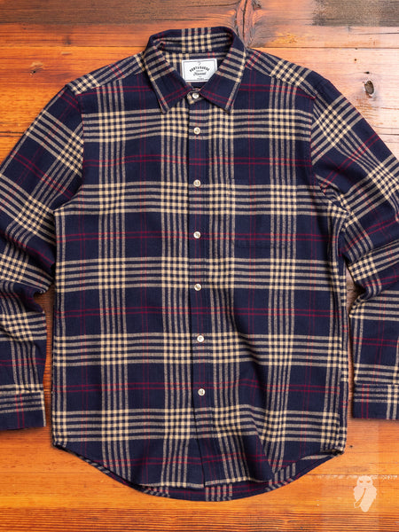 Tomar Button-Up Shirt in Blue Check