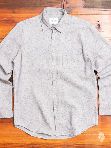 Tough Button-Up Shirt in Grey Nep