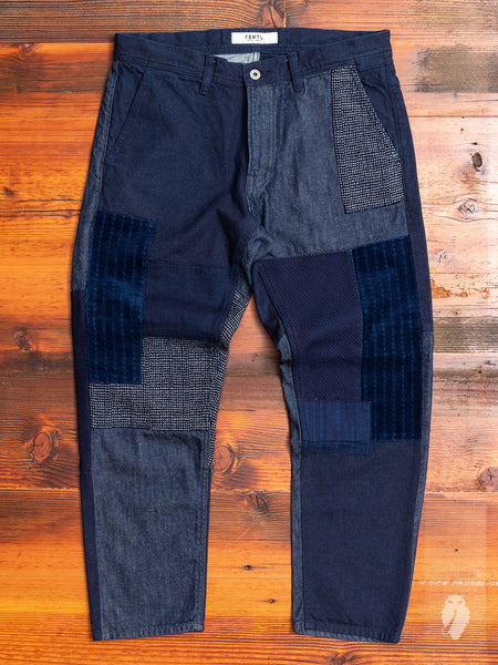 Boro Patchwork Pants in Indigo