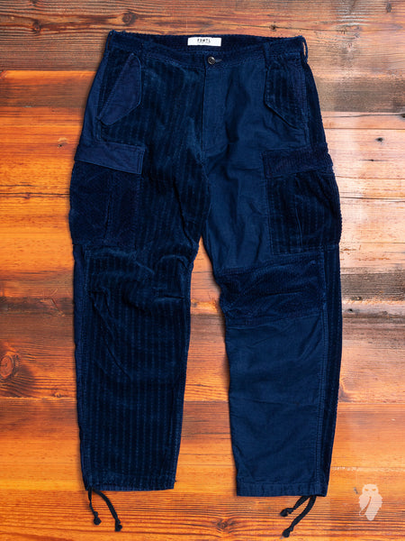 Corduroy Cargo Pants in Indigo