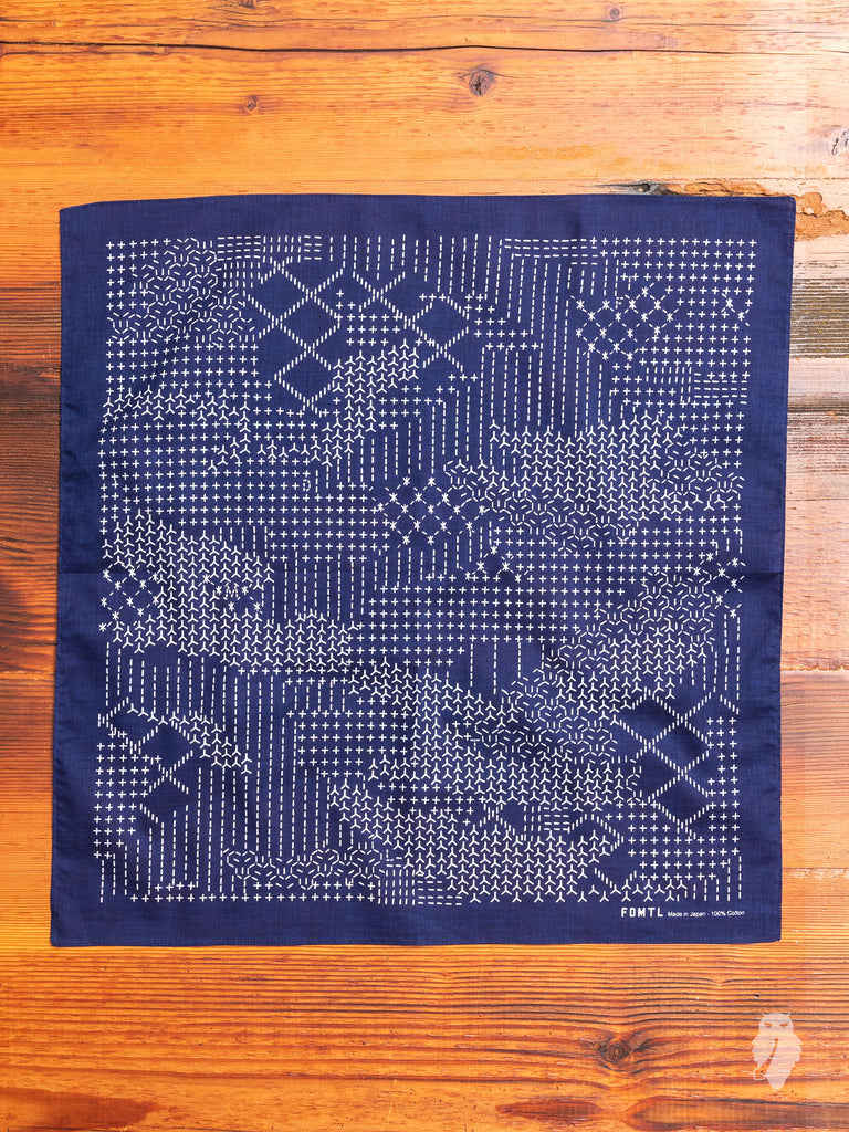 Sashiko Bandana in Navy