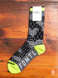 Sashiko Camo Socks in Black