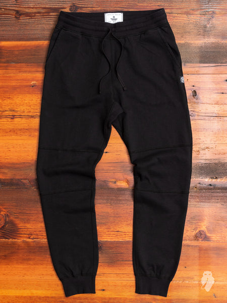 Heavyweight Fleece Slim Sweatpant in Black