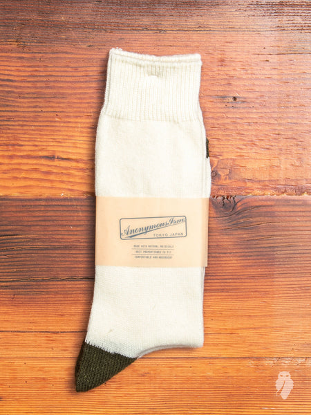 Cashmere Crew Sock in White