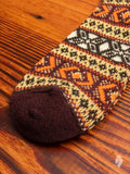 Fair Isle Sock in Burgundy