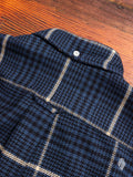 Houndstooth Tweed Flannel in Navy
