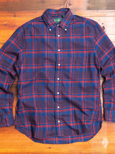 Indigo Check Flannel in Red