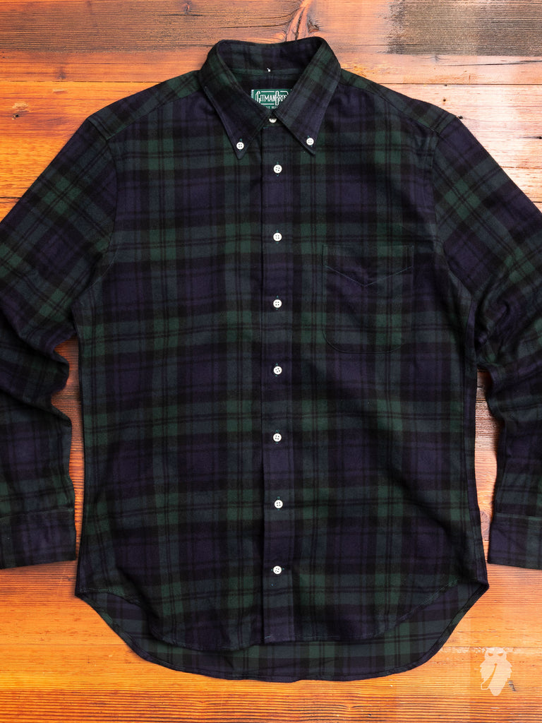 Shaggy Check Flannel in Blackwatch