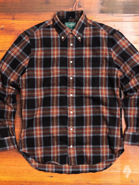 Shaggy Check Flannel in Brown