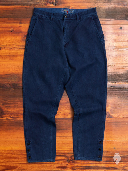 Fine Sashiko Hunting Pants in Indigo