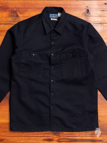 Big Pocket Twill Shirt in Indigo