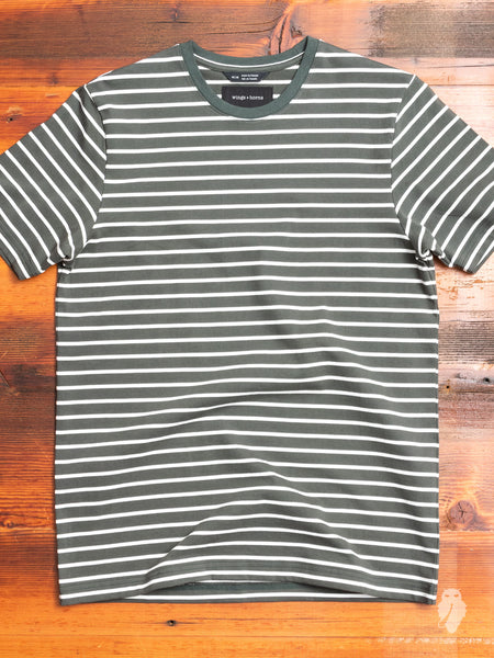 Heavyweight Jersey T-Shirt in Pine Stripe