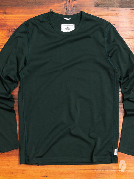 Pima Jersey Longsleeve T-Shirt in Forest Green