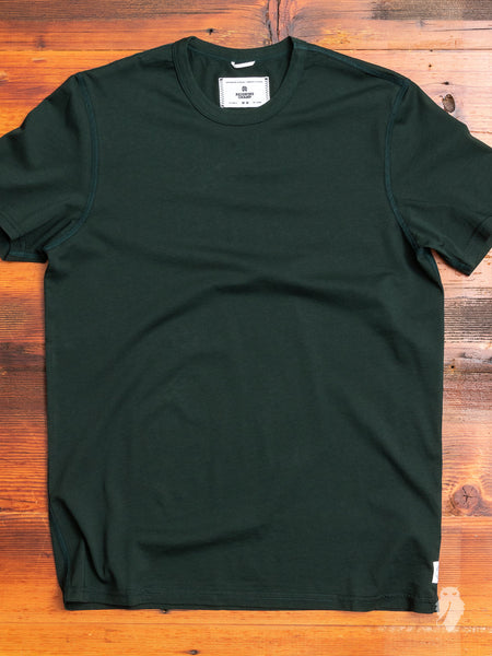 Ringspun Jersey T-Shirt in Forest Green