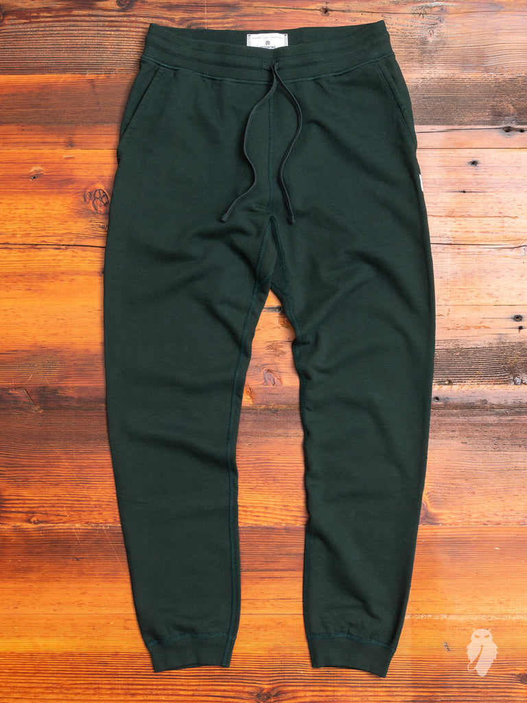 Slim Sweatpant in Forest Green