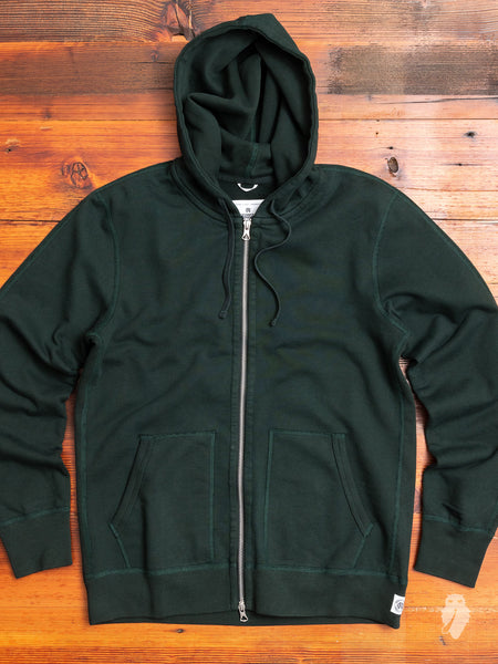 Zip Hoodie in Forest Green