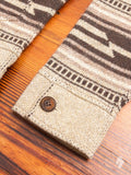 Western Shawl Cardigan in Tan