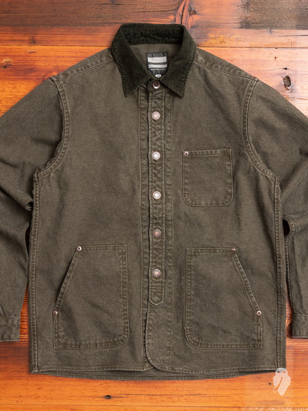 03-131 Duck Work Jacket in Olive Drab