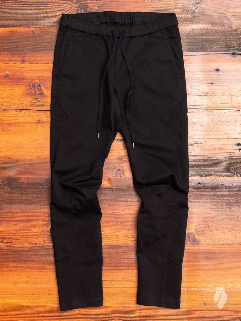 Power Stretch Twill Moto Pants in Black