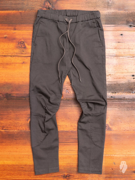 Power Stretch Twill Moto Pants in Charcoal
