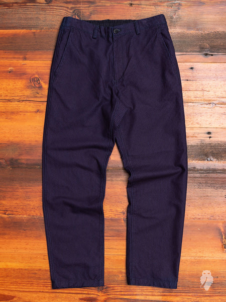 Stitched Sashiko Relaxed Trouser in Indigo