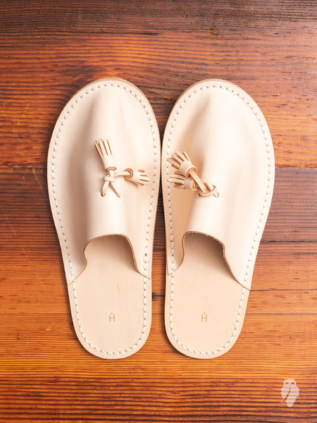Leather Slipper in Natural
