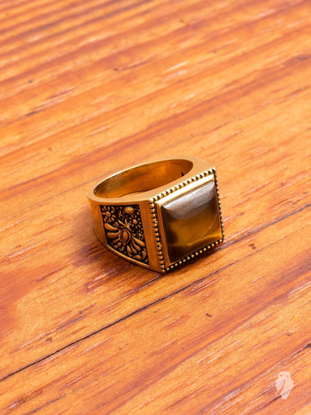 Buick Ring in Gold/Tiger Eye