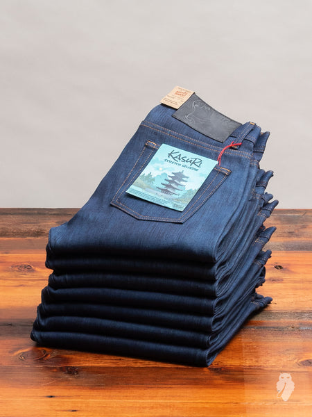 """Kasuri Stretch Selvedge"" 12.5oz Selvedge Denim - Weird Guy Fit"