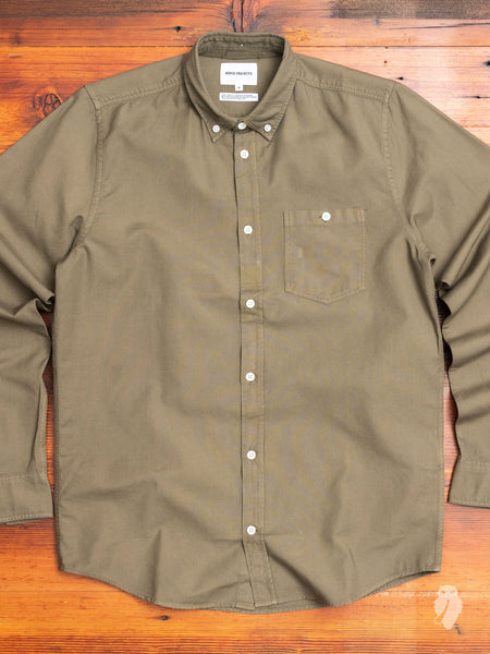 Anton Oxford Button Down Shirt in Ivy Green