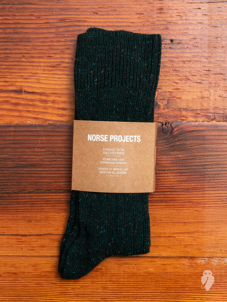 Bjarki Neps Socks in Beech Green