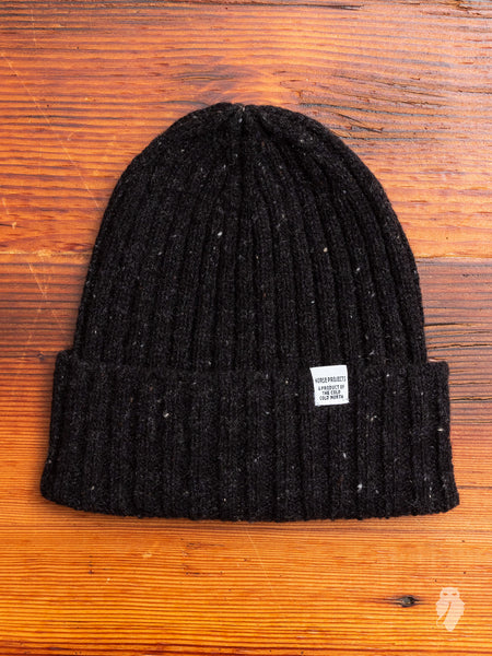Neps Beanie in Charcoal Melange