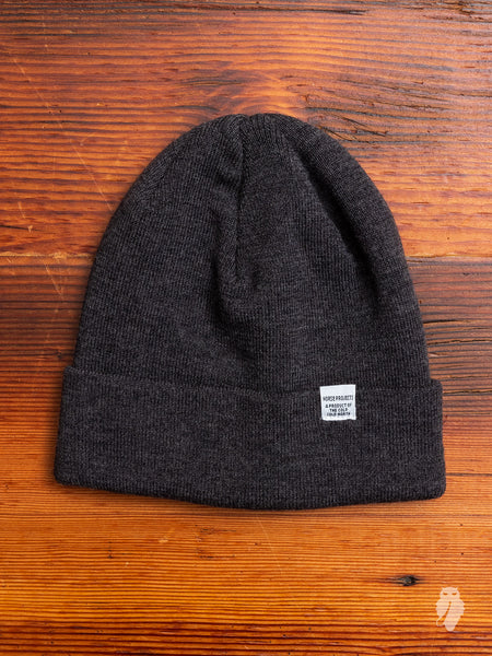 Norse Top Beanie in Charcoal Melange