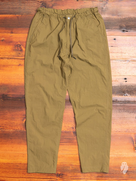 New Yorker Pants in Olive Nylon