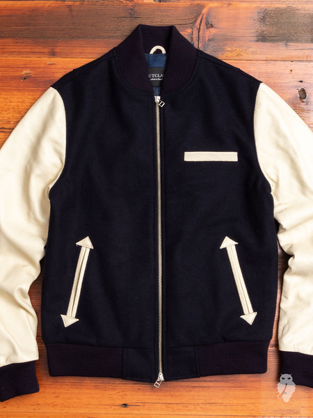Bomber Jacket in Navy
