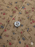 Floral Corduroy Button-Down Shirt in Olive