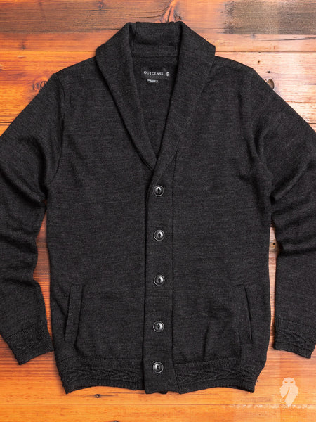 Shawl Collar Cardigan in Charcoal
