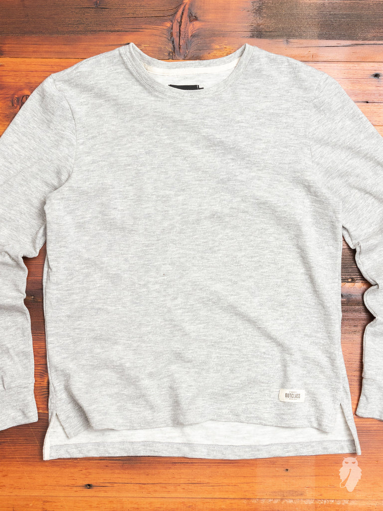 Slub Long Sleeve T-Shirt in Heather Grey