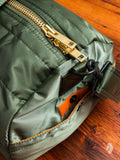 """Tanker"" 2-Way Boston Bag (S) in Sage Green"