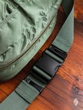 """Tanker"" 2-Way Waist Bag in Sage Green"