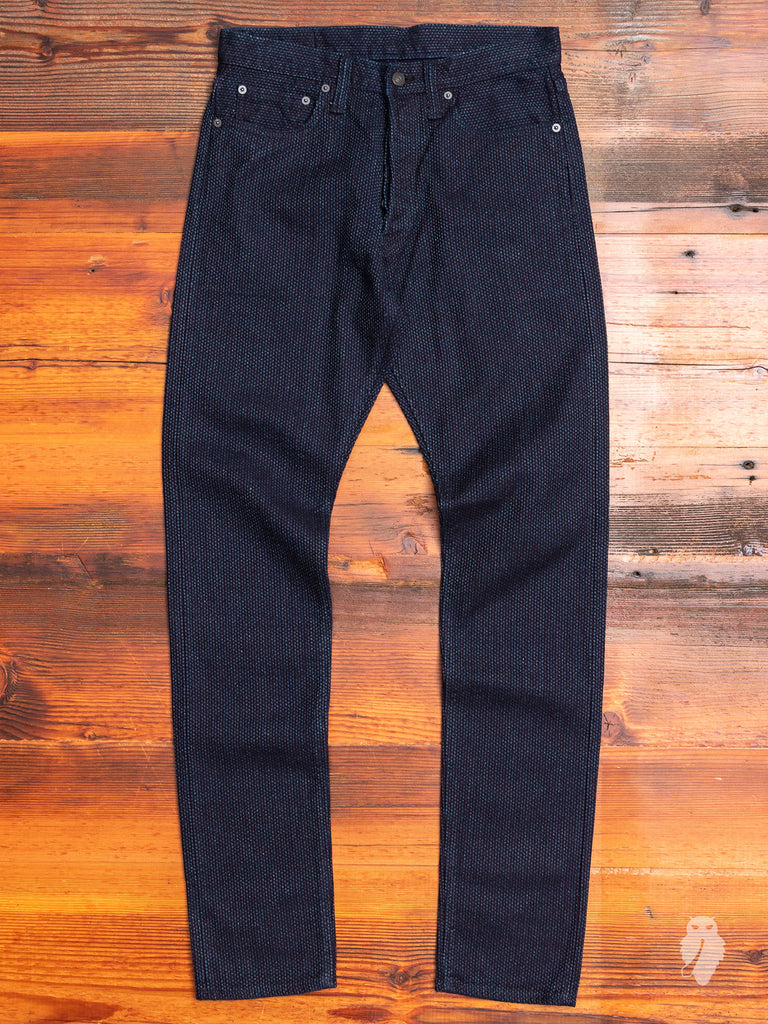 5-Pocket Pant in Sashiko Selvedge - Relaxed Tapered Fit