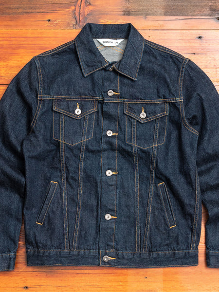 "3sixteen x Blue Owl ""Gold Rush"" Modified Type-3 Denim Jacket in Indigo"