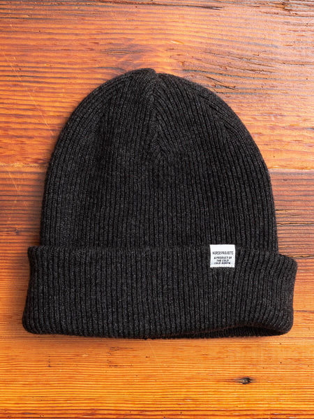 Norse Beanie in Charcoal Melange