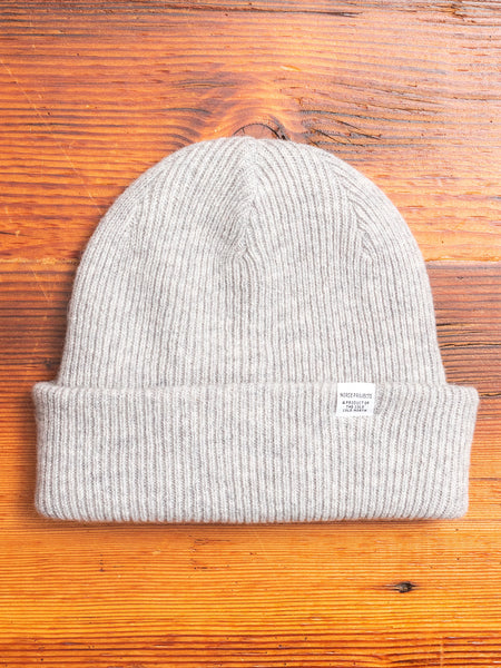 Norse Beanie in Light Grey Melange