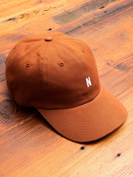 Twill Sports Cap in Madder Brown