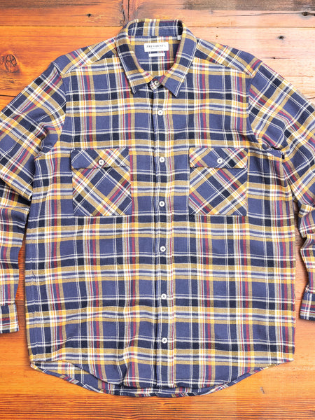 """Vespa P's"" Check Flannel in Blue"