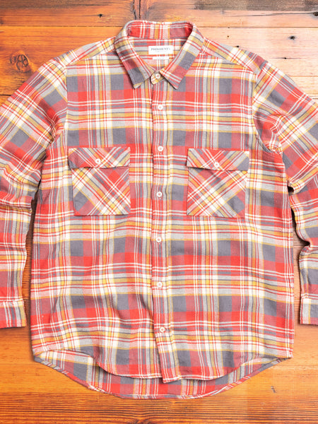 """Vespa P's"" Check Flannel in Red"