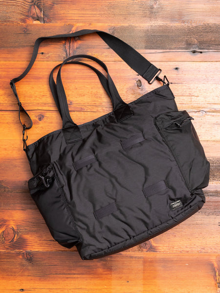 """Force"" 2-Way Tote Bag in Black"